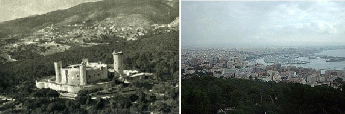 Blick aufs Kastell und von dort über die Stadt