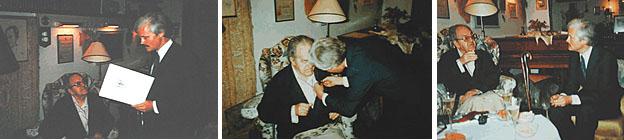 Verleihung des Bundesverdienstkreuzes 1985