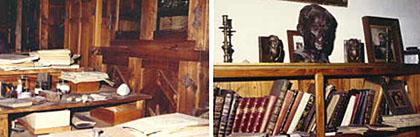 Schreibtisch und Büste Pascoaes