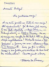 Brief an Thelen von 1949