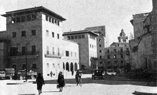 Die Plaza del Olivar damals...