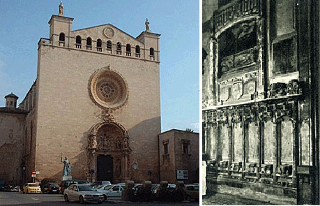 Kloster San Franciso, rechts Grab Raimnund Lullus