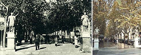 Die Rambla - damals und heute