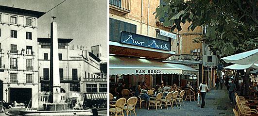 Casa del libro rechts im Bild unter der Markise, r. die heutige Bar Bosch