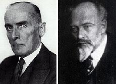 Graf Kessler, l.; Graf Keyserling